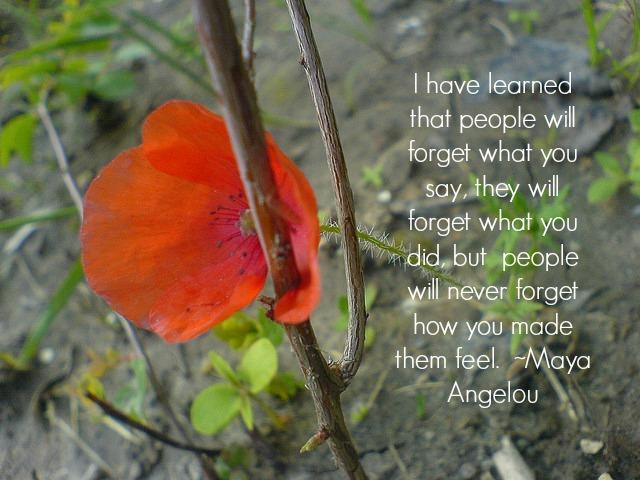 I have learned, Maya Angelou