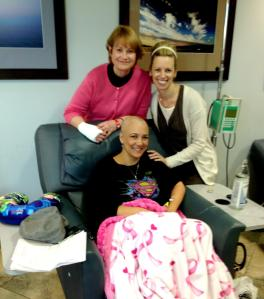 Debbie and Laura Kramer.  Friends holding my hands and heart during chemo.