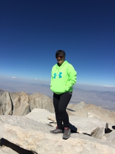14,581 feet up in the air. Summit of Mt. Whitney