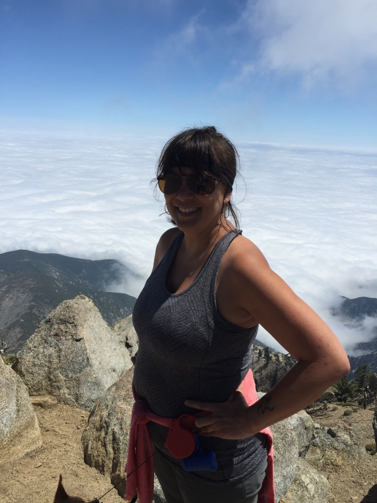 Above the clouds at Cucamonga Peak 8.858 feet.