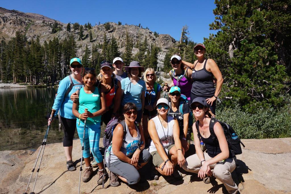 Our hiking group to Emigrant Lake. So beautiful.